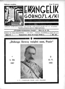 Ewangelik Górnośląski, 1935, R. 4, nr 21