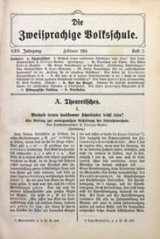 Die Zweisprachige Volksschule, 1914, Jg. 22, H. 2