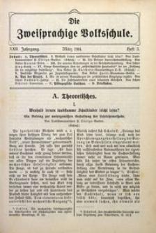Die Zweisprachige Volksschule, 1914, Jg. 22, H. 3
