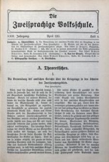 Die Zweisprachige Volksschule, 1915, Jg. 23, H. 4