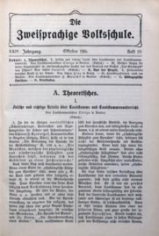 Die Zweisprachige Volksschule, 1916, Jg. 24, H. 10