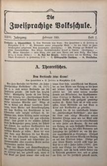 Die Zweisprachige Volksschule, 1918, Jg. 26, H. 2
