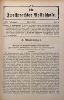Die Zweisprachige Volksschule, 1918, Jg. 26, H. 4