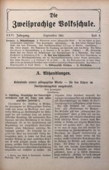 Die Zweisprachige Volksschule, 1918, Jg. 26, H. 9