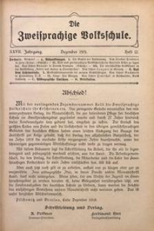 Die Zweisprachige Volksschule, 1919, Jg. 27, H. 12