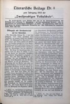 Literarische Beilage, 1913, Nr. 3