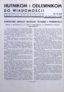 Hutnikom i Odlewnikom do Wiadomości! 1938, nr 39