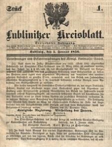 Lublinitzer Kreisblatt, 1856, Jg. 13, St. 1