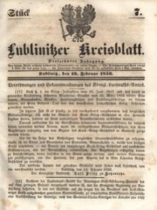 Lublinitzer Kreisblatt, 1856, Jg. 13, St. 7