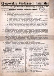 Chorzowskie Wiadomości Parafialne. 1934, R. 5, nr 19