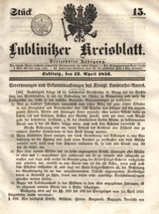 Lublinitzer Kreisblatt, 1856, Jg. 13, St. 15