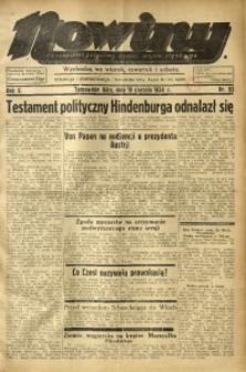 Nowiny. Czasopismo Północnej Części Województwa Śląskiego, 1934, R. 5, Nr. 93