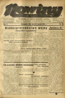 Nowiny. Czasopismo Północnej Części Województwa Śląskiego, 1934, R. 5, Nr. 95