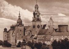 Kraków. Wieże Wawelu od strony zachodniej