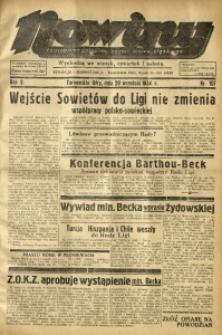Nowiny. Czasopismo Północnej Części Województwa Śląskiego, 1934, R. 5, Nr. 107