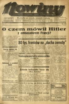 Nowiny. Czasopismo Północnej Części Województwa Śląskiego, 1934, R. 5, Nr. 123