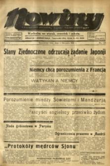 Nowiny. Czasopismo Północnej Części Województwa Śląskiego, 1934, R. 5, Nr. 124