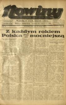 Nowiny. Czasopismo Północnej Części Województwa Śląskiego, 1935, R. 6, Nr. 21