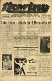 Nowiny. Czasopismo Północnej Części Województwa Śląskiego, 1935, R. 6, Nr. 67