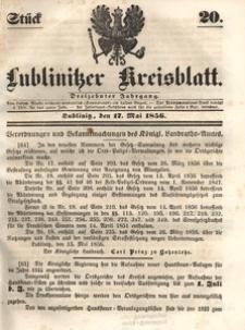 Lublinitzer Kreisblatt, 1856, Jg. 13, St. 20