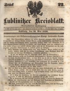 Lublinitzer Kreisblatt, 1856, Jg. 13, St. 22