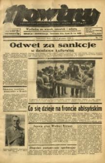 Nowiny. Czasopismo Północnej Części Województwa Śląskiego, 1935, R. 6, Nr. 140