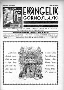 Ewangelik Górnośląski, 1935, R. 4, nr 47