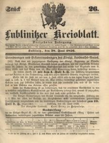Lublinitzer Kreisblatt, 1856, Jg. 13, St. 26