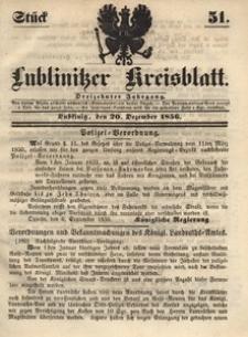 Lublinitzer Kreisblatt, 1856, Jg. 13, St. 51