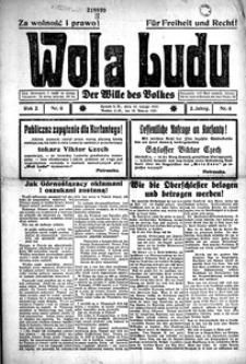 Wola Ludu, 1921, R. 2, nr 6