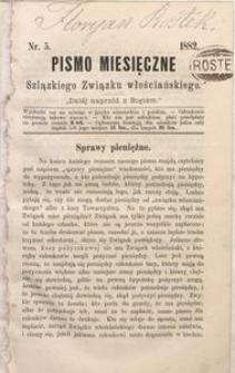 Pismo Miesięczne Szląskiego Związku Włościańskiego, 1882, Nr. 5