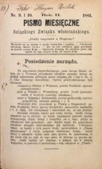 Pismo Miesięczne Szląskiego Związku Włościańskiego, 1883, R. 2, Nr. 9/10