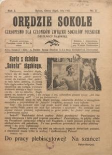 Orędzie Sokole, 1921, R. 2, Nr. 2