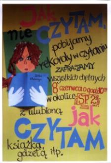 Jak czytam. Zaproszenie Szkoły Podstawowej nr 2 w Głubczycach na wspólne czytanie.