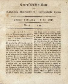 Correspondenzblatt, 1811, Jg. 2, H. 1, No. 5