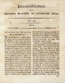 Correspondenzblatt, 1810, No. 20