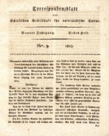 Correspondenzblatt, 1813, Jg. 4, H. 1, No. 9