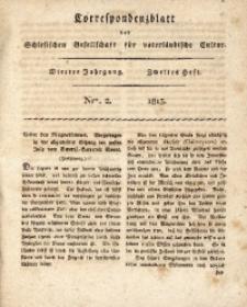Correspondenzblatt, 1813, Jg. 4, H. 2, No. 2