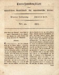 Correspondenzblatt, 1813, Jg. 4, H. 2, No. 10