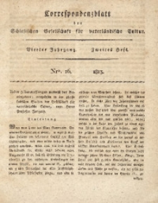 Correspondenzblatt, 1813, Jg. 4, H. 2, No. 16