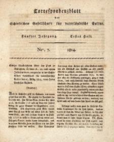 Correspondenzblatt, 1814, Jg. 5, H. 1, No. 7