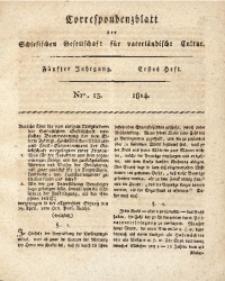 Correspondenzblatt, 1814, Jg. 5, H. 1, No. 13