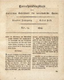 Correspondenzblatt, 1814, Jg. 5, H. 1, No. 15