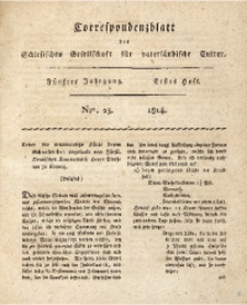 Correspondenzblatt, 1814, Jg. 5, H. 1, No. 23