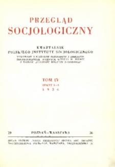 Przegląd Socjologiczny, 1936, Tom 4, Zeszyt 3/4