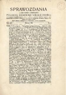 Sprawozdania z Czynności i Posiedzeń Polskiej Akademii Umiejętności, 1936, T. 41, Nr 3
