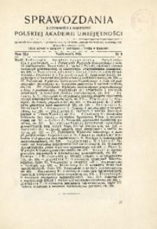 Sprawozdania z Czynności i Posiedzeń Polskiej Akademii Umiejętności, 1936, T. 41, Nr 8