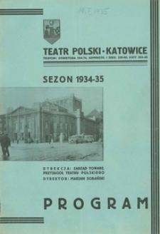 """Teatr Polski w Katowicach. 1934-1935. Program. """"Rodzina"""". Komedia w 3 aktach Antoniego Słonimskiego"""