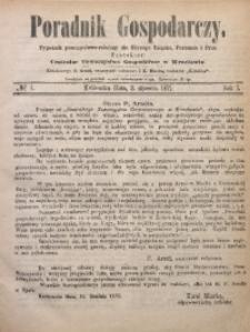 Poradnik Gospodarczy, 1871, R. 1, No 1
