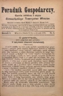 Poradnik Gospodarczy, 1879, R. 1, Nr. 2